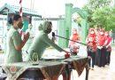 Ketua Persit KCK Rem 091 PD VI/Mlw Resmikan Posbindu PTM Kodim Kkr